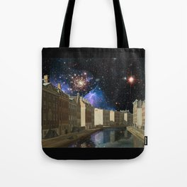 Space Time Continuum with Gerrit Adrieansz Tote Bag