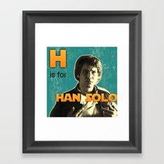 H is for... Framed Art Print