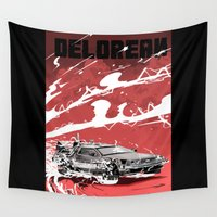 back to the future Wall Tapestries featuring Back to the future by Kaan Demircelik