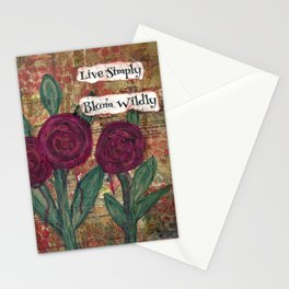 Live Simply, Bloom Wildly Stationery Cards