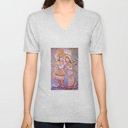 Hare Krishna Love Unisex V-Neck