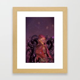 Purple haze and tree maze Framed Art Print