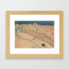 The Desert Framed Art Print