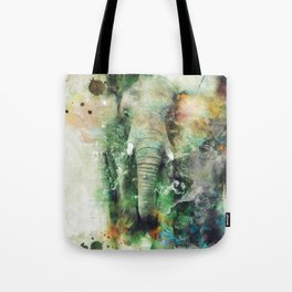 Watercolor Elephant Tote Bag