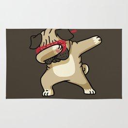 Dabbing Pug Rug
