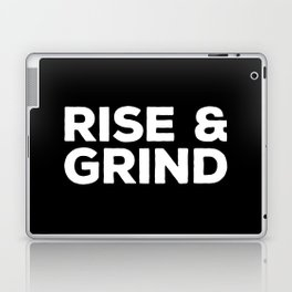 Rise & Grind Gym Quote Laptop & iPad Skin