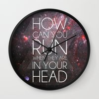 anxiety Wall Clocks featuring Anxiety by Ruveyda & Emre