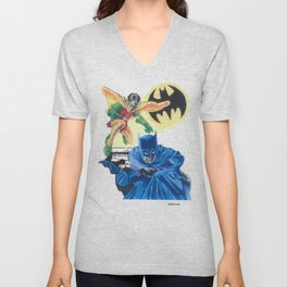 Masked Heroes / Dynamic Duo by Peter Melonas Unisex V-Neck
