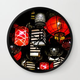 Bundle of Lanterns Wall Clock