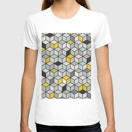 Colorful Concrete Cubes - Yellow, Blue, Grey T-shirt