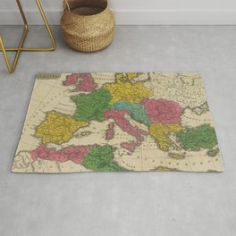 Vintage Map of The Roman Empire (1831) Rug