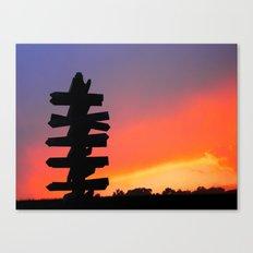 Signpost Sunset Canvas Print