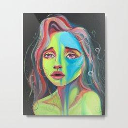 Highlighter girl original art Metal Print