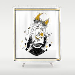 Moon Witch - Gold phase Shower Curtain