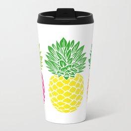 Pineapple Trio Metal Travel Mug