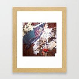 Vintage Yard Porn  Framed Art Print