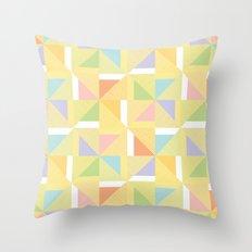 PINWHEELS - YELLOW Throw Pillow