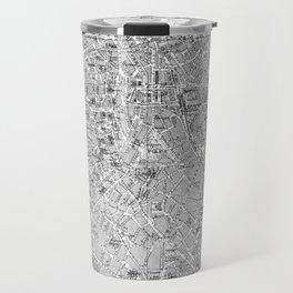 Vintage Map of Antwerp Belgium (1905) BW Travel Mug