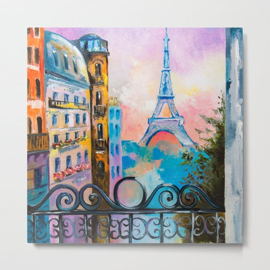 Romantic date in Paris Metal Print