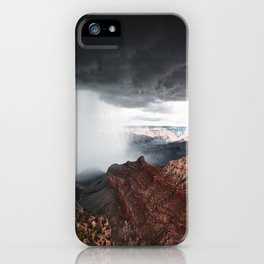 a storm in the grand canyon iPhone Case