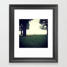 Peaceful Morning on Lake Michigan Framed Art Print