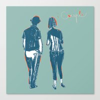 couple Canvas Prints featuring Couple by Thomas Campi