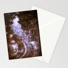 Forest Wanderlust - Adventure Road Trip in Purple Fog Firefly Stationery Cards