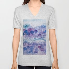 """Cold Reflections"". Unisex V-Neck"