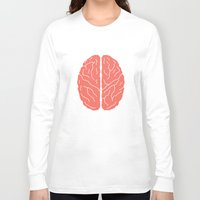 brain Long Sleeve T-shirts featuring Brain by Yellow Chair Design