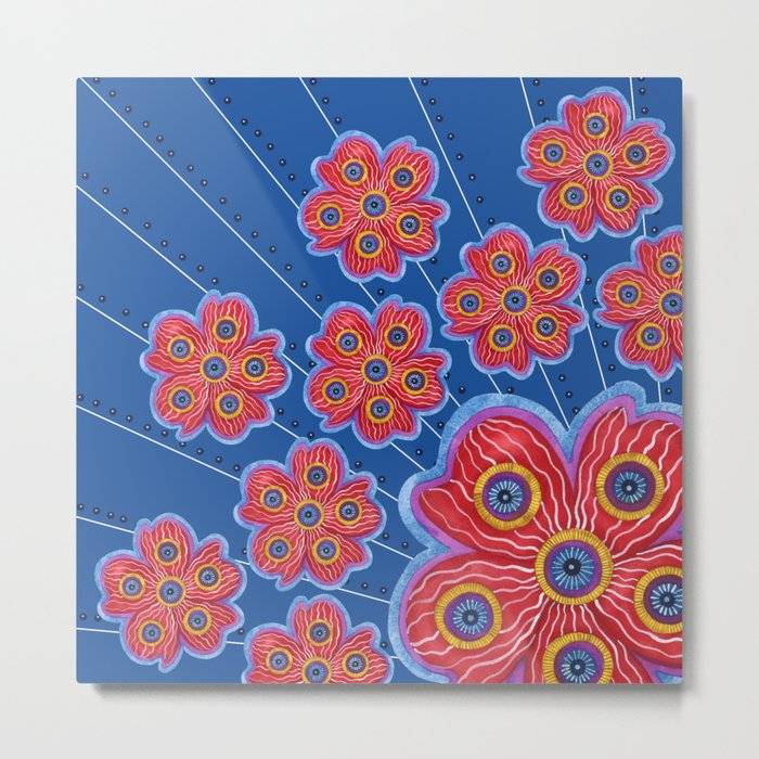 A Lot of Red Flowers Metal Print