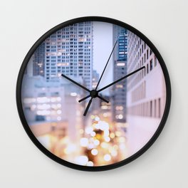 Pastel Nights Wall Clock
