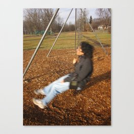 Best Friend In Motion Canvas Print