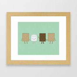 Life is S'more Fun Together (Mint) Framed Art Print