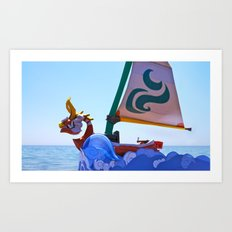 King of Red Lions Art Print