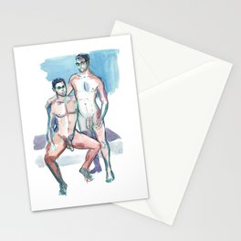 BRIAN & KEVIN, Nude Men by Frank-Joseph Stationery Cards