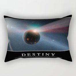 Destiny: Inspirational Quote and Motivational Poster Rectangular Pillow