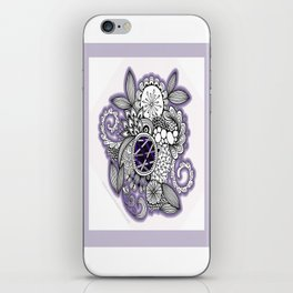 Pretty in Purple Zentangle Design Illustration iPhone Skin