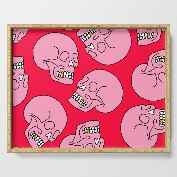 Pink Skull Serving Tray