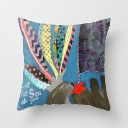 Let the Sea Stir Your Imagination Throw Pillow