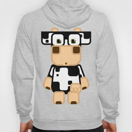 Super cute cartoon cow in black and white - a moo-st have design for  cow enthusiasts! Hoody