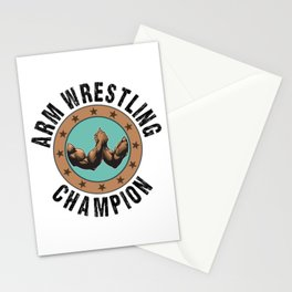 Funny Arm Wrestling Armwrestling Weight Training Gift Stationery Cards