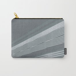 Abstract asymmetrical pattern in shades of gray . Carry-All Pouch