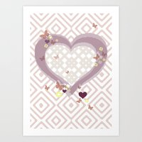 Quilted Heart Art Print