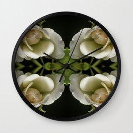 Kaleidoscope Peach Wall Clock