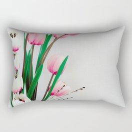 Tulips in spring Rectangular Pillow