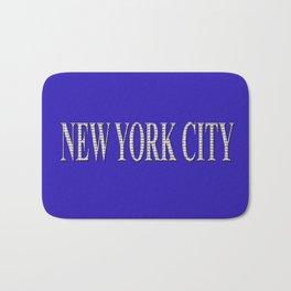 New York City (type in type on blue) Bath Mat