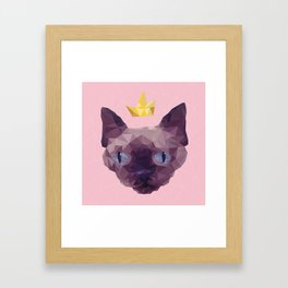 King Cat. Framed Art Print