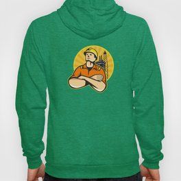 Offshore Oil and Gas Worker Rig Retro Hoody