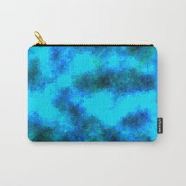 Stained Glass Camo -- Aqua Carry-All Pouch