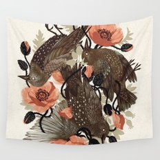 Spangled & Plumed Wall Tapestry